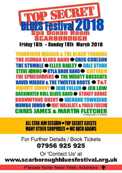 FESTIVALS 2018: Announcements for Scarborough and Bowness Blues Festivals!