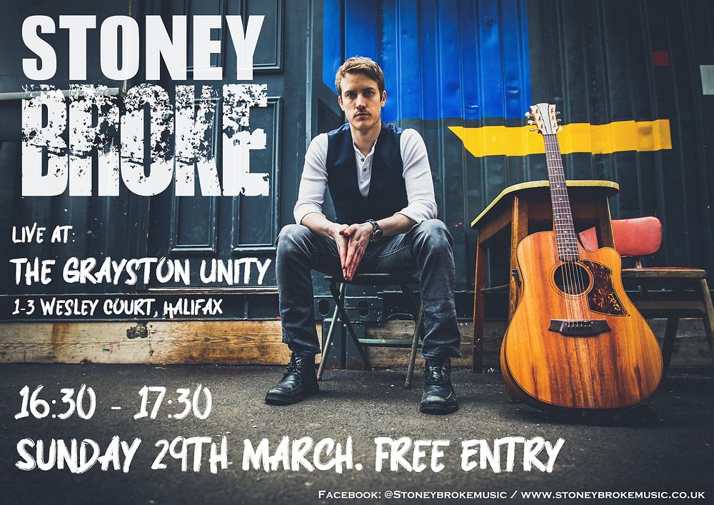 Stoney Broke poster Grayston Unity