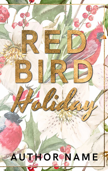 Red Bird Holiday - Pre Made Cover