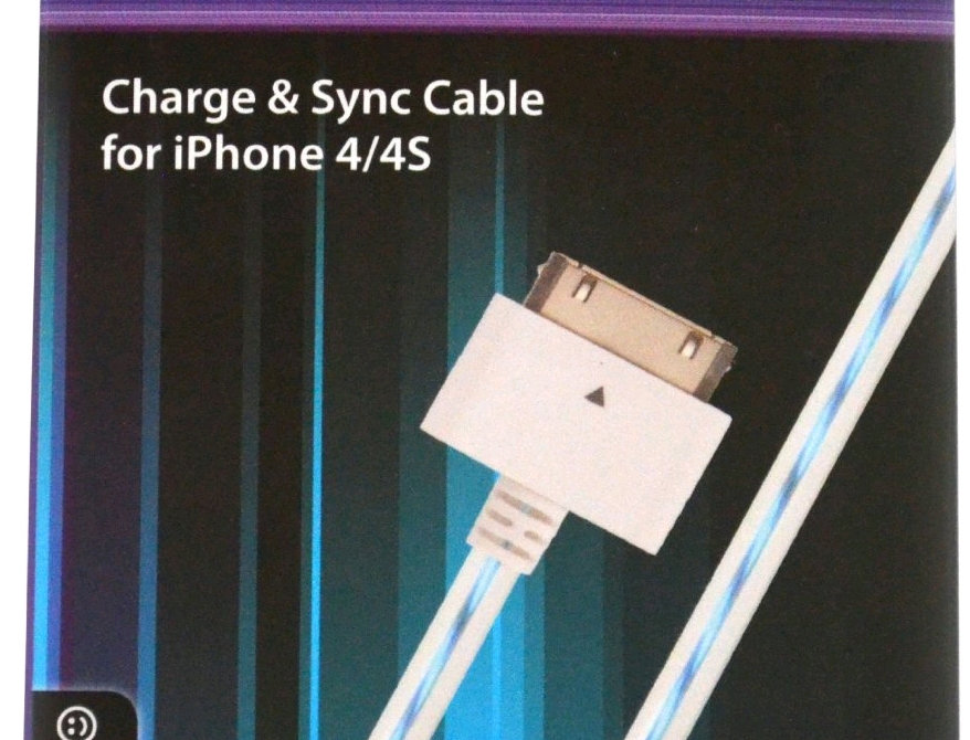 Lumix iPhone 4/4S Charge/Sync Cable (White/Blue)