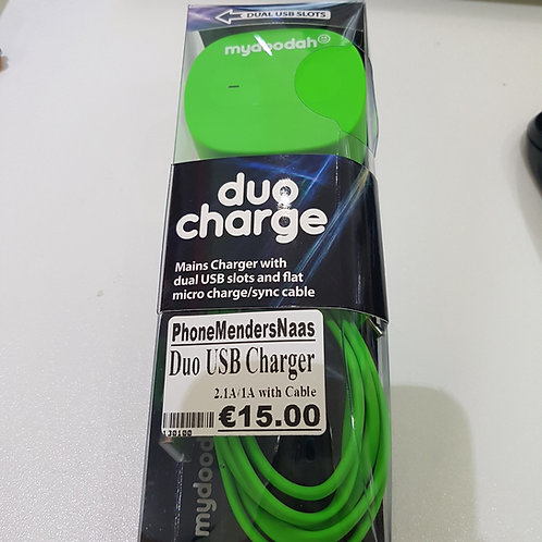 duo USB Charger 2.1A/1A whit cable