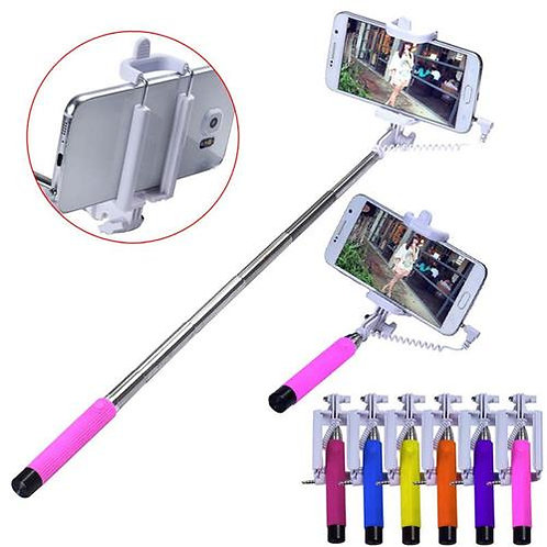 selfifie stick with cable