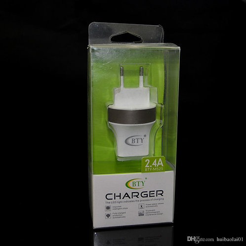 Universal Dual USB AC Power Adapter Charger 2.4A