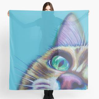 Tabby cat scarf