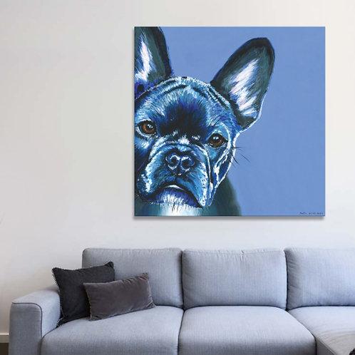 Pet Portrait on 75cm square canvas