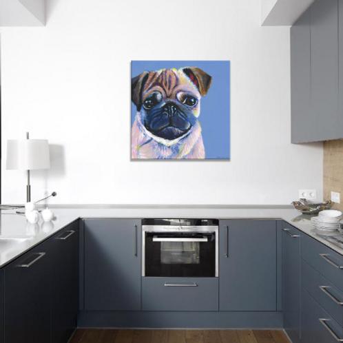 Pet Portrait on 45cm square canvas