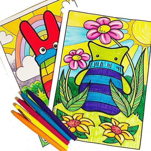 Sock Monster Colouring Book