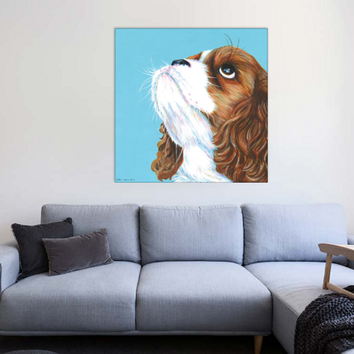 Pet Portrait on 60cm square canvas
