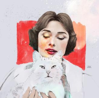Audrey   A4 Digital Painting