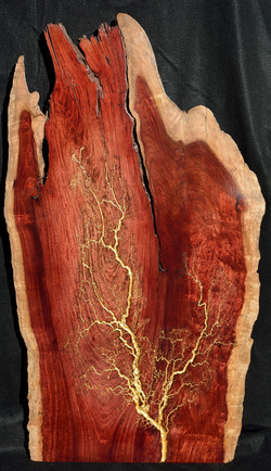 Live Edge Padauk with Gold Leaf Leaf