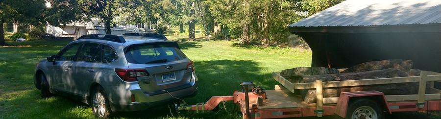 my setup for hauling logs