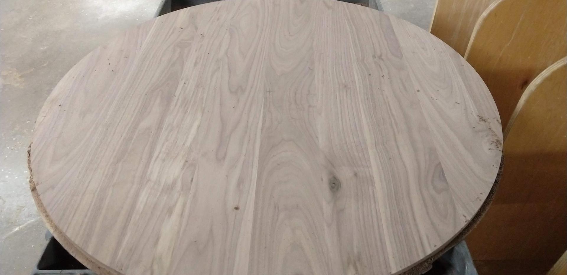 walnut tabletop fresh off the cnc