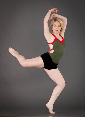 Melanie Harvengt dancing in photo shoot