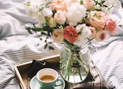 Delicious fresh morning espresso coffee
