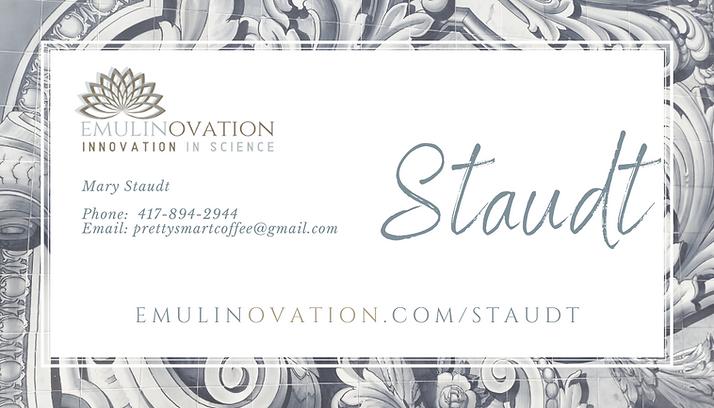 Mary Staudt Business Card