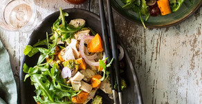 Chicken, Arugula & Butternut Squash Salad