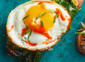Spinach and Egg Sweet Potato Toast