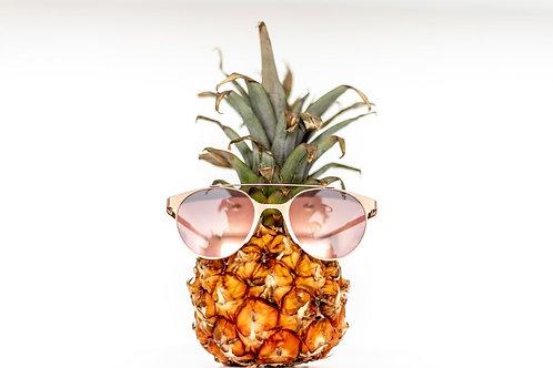 Pineapple Dapple: Pineapple Scented Exfoliating Sugar Scrub (small - 4 oz.)