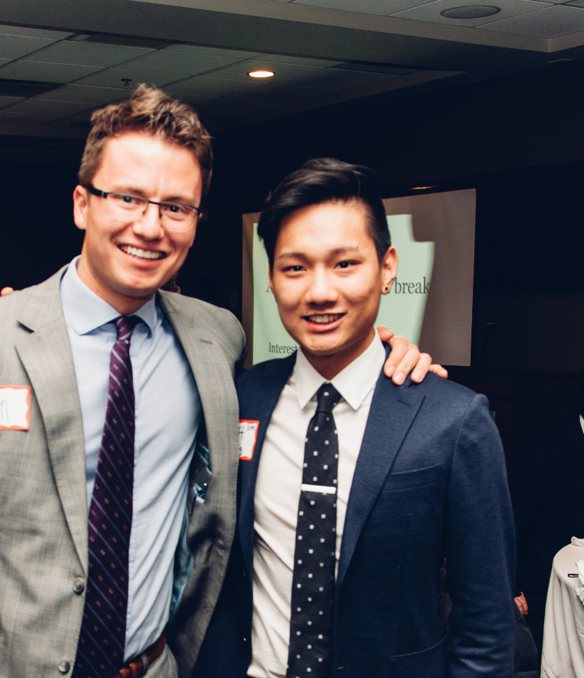 Ian Bell (left) with Jeff Fong (right)