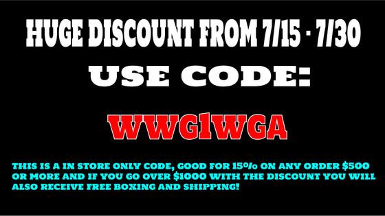7/15 - 7/31 HUGE 15% Discount