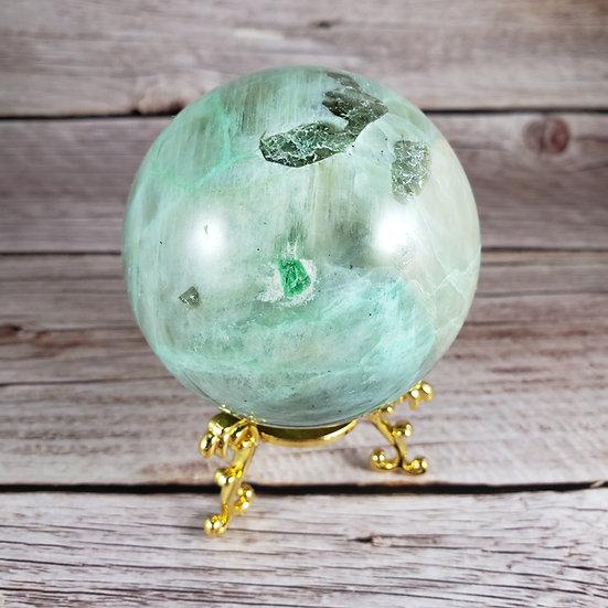 Green Moonstone (Garnierite) Sphere