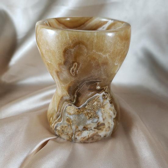 Caramel Calcite Goblet