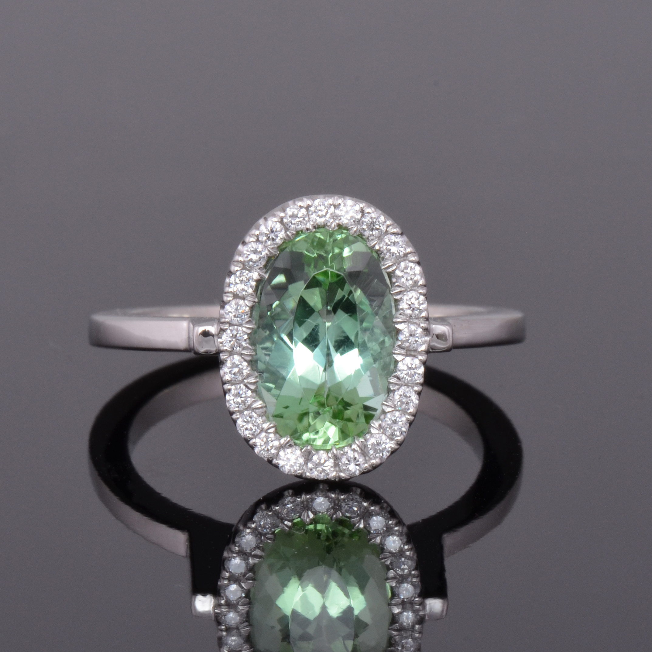 mint tourmaline ring top