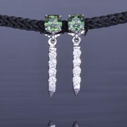 green sapphire earrings