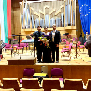 After a great concert with Maestro Cohen and Ricardo Calderoni.