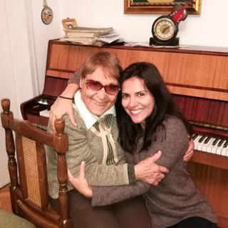 With my amazing voice teacher - Roza Mitova.