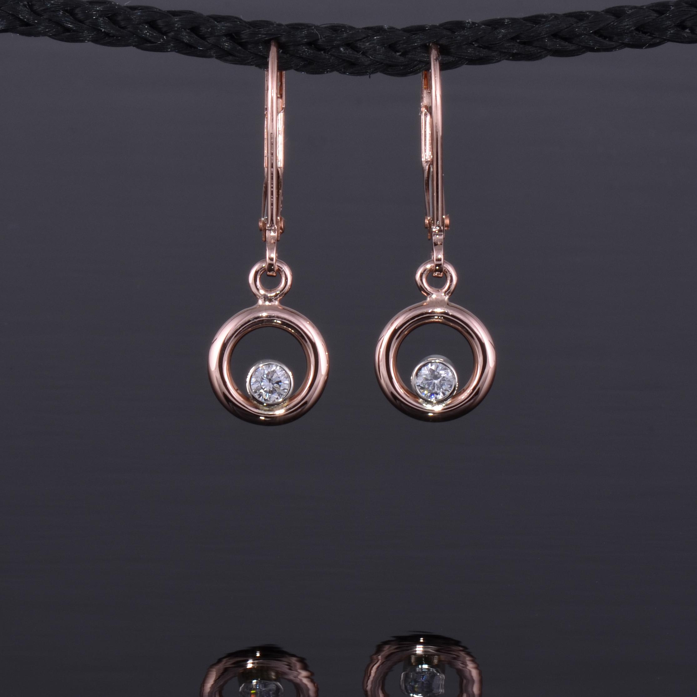 8mm phi  earring rose gold