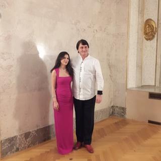With Maestro Bojidar Nikolov in Vienna.