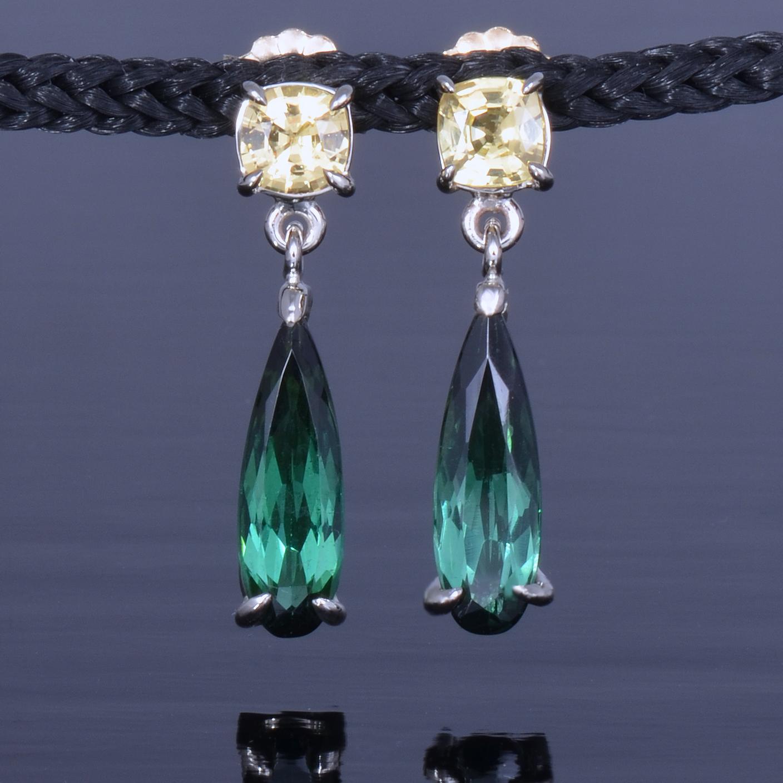 sapphire tourmaliine earrings-1