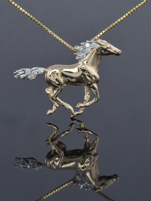 Running Horse with diamond mane