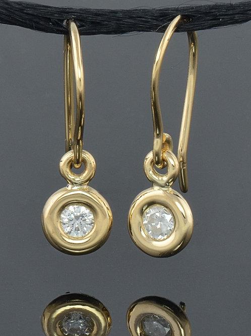 18k small donut earrings