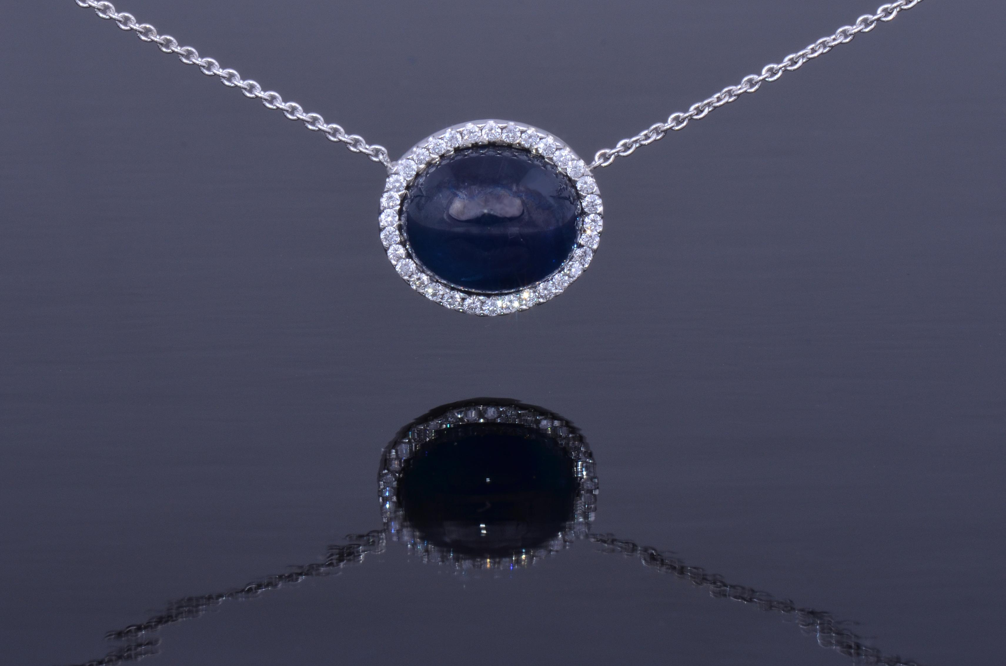 sapphire cab necklace