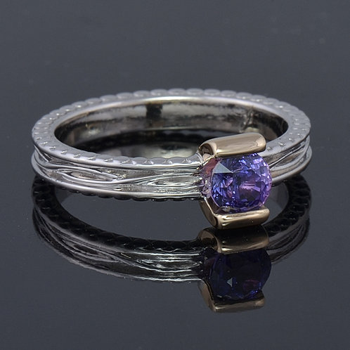 Violet sapphire ring.