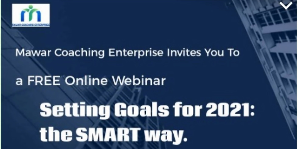 WEBINAR: Setting Personal Goals for The SMART Way