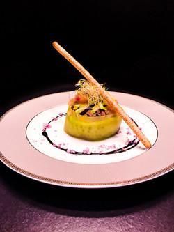 tartare de canard à la mangue