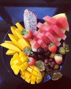 Une bonne salade de fruits pour bien com