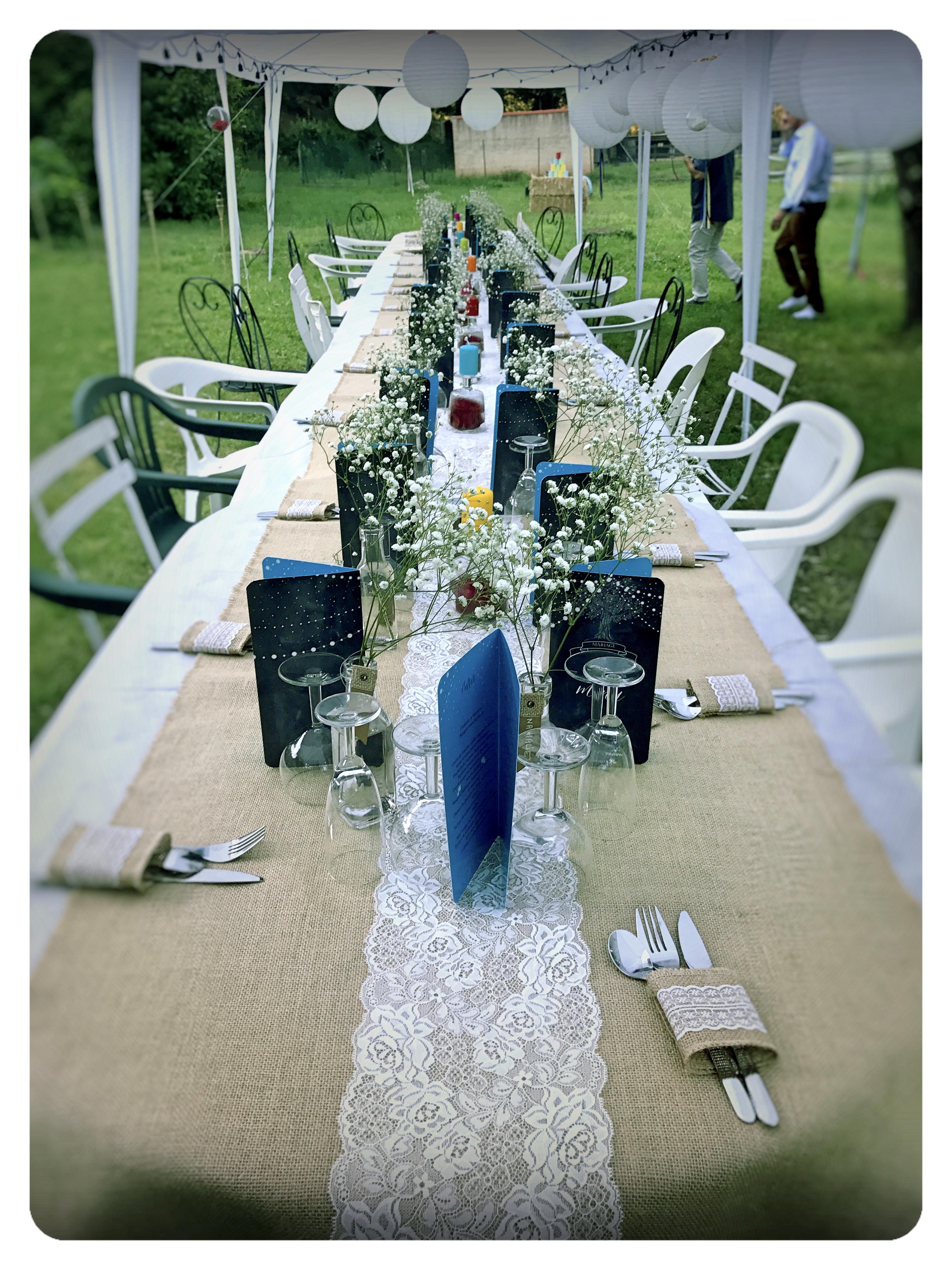 Table pour le mariage
