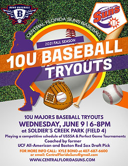 Central Florida Suns 10U Baseball Tryout
