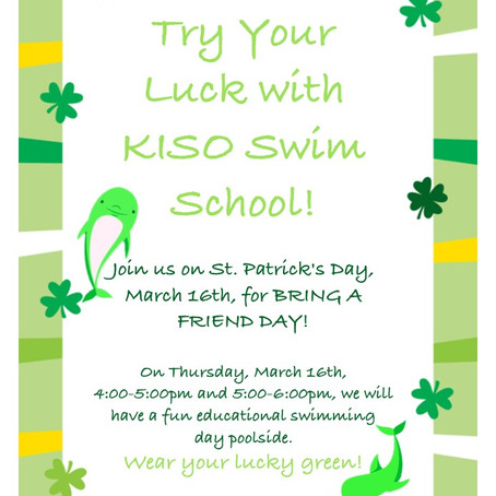 Try Your Luck with KISO Swim School!