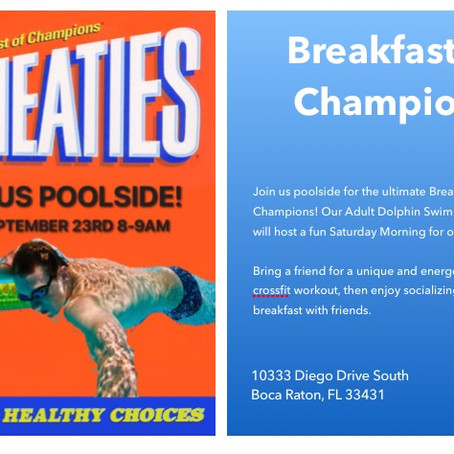 Breakfast of Champions - For Adults!