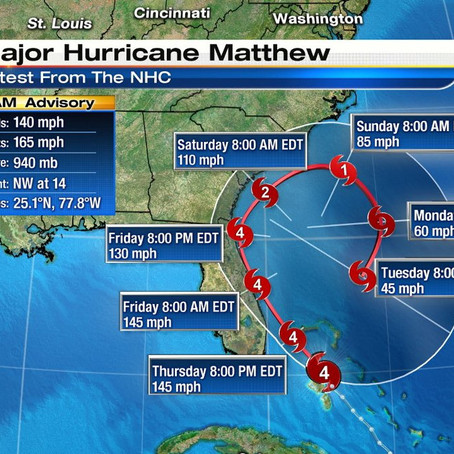 IMPORTANT: Swimming Cancelled Due to Hurricane Matthew