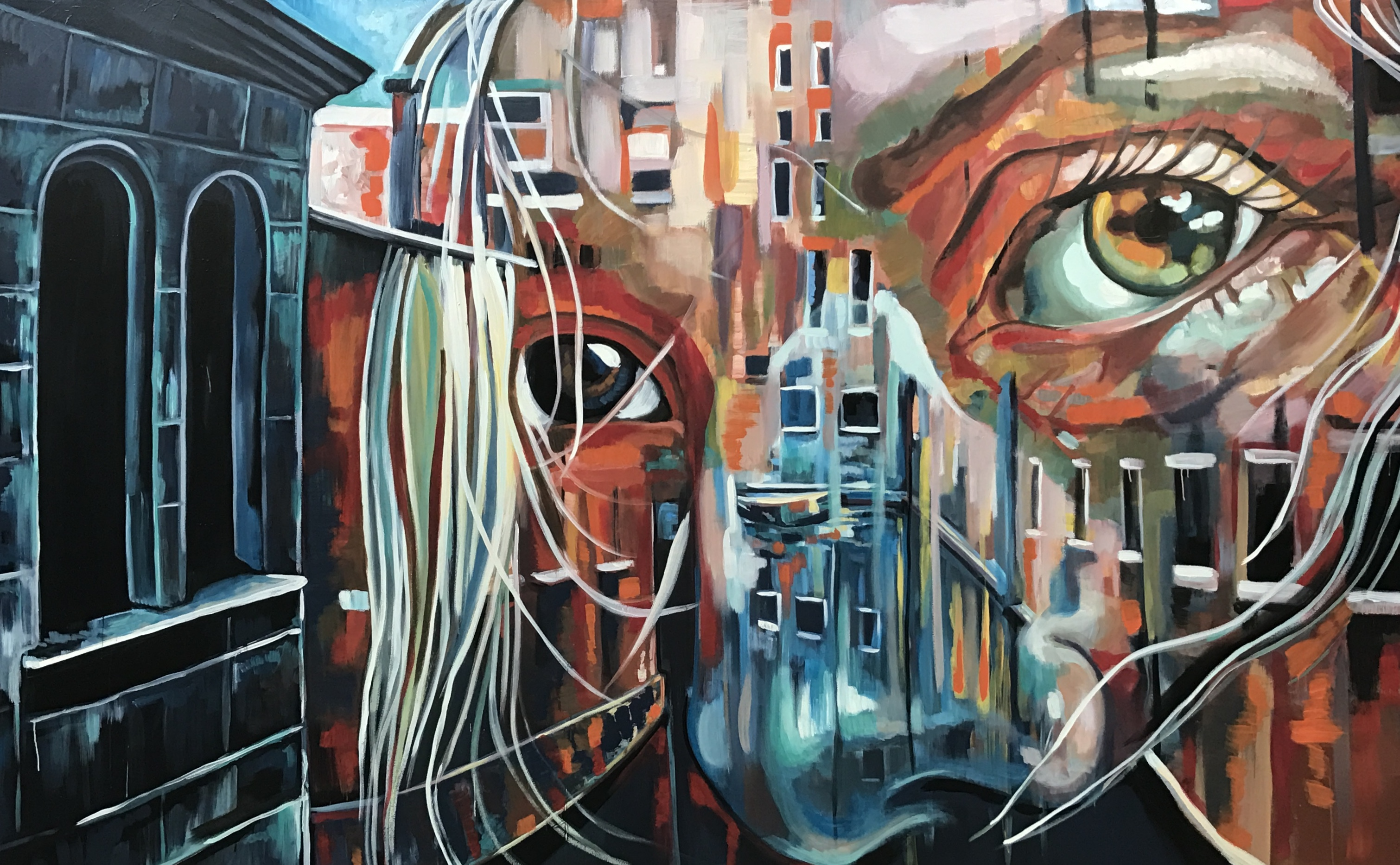 """Eyes of Venice""7-by14ft Mural"