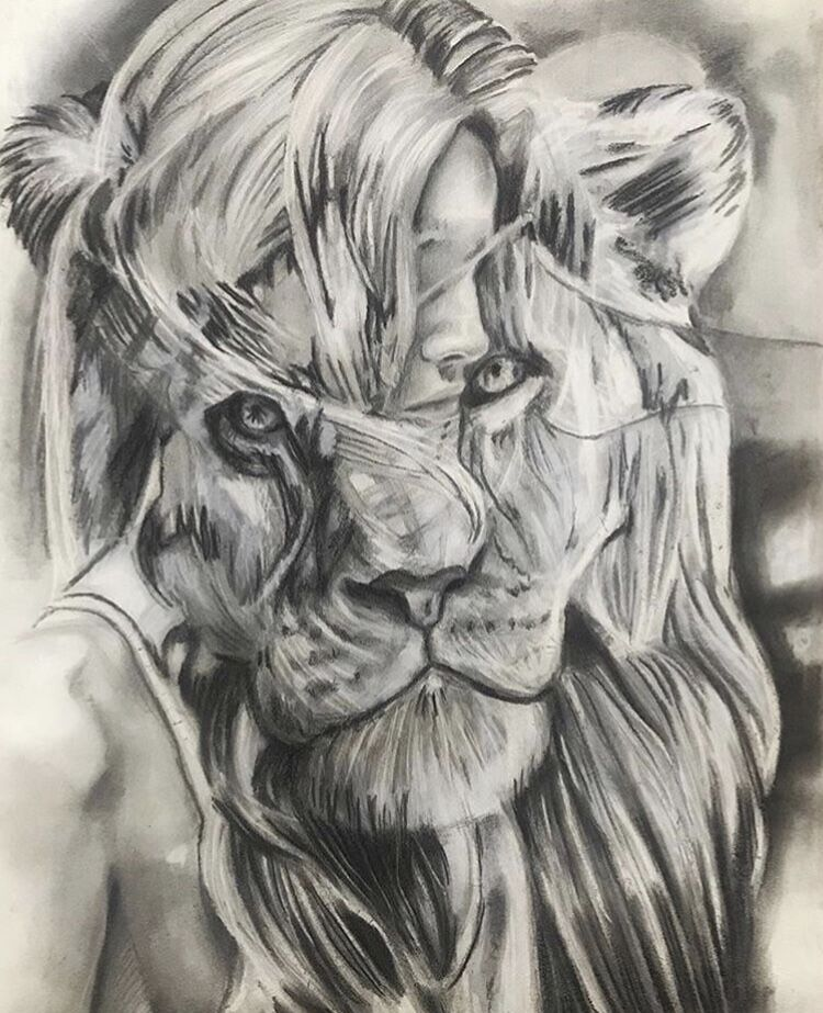 "The Girl and the Lion 18""-24"""