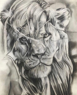 """The Girl and the Lion 18""""-24"""""""