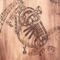 """Musical Heart 11""""-11"""""""