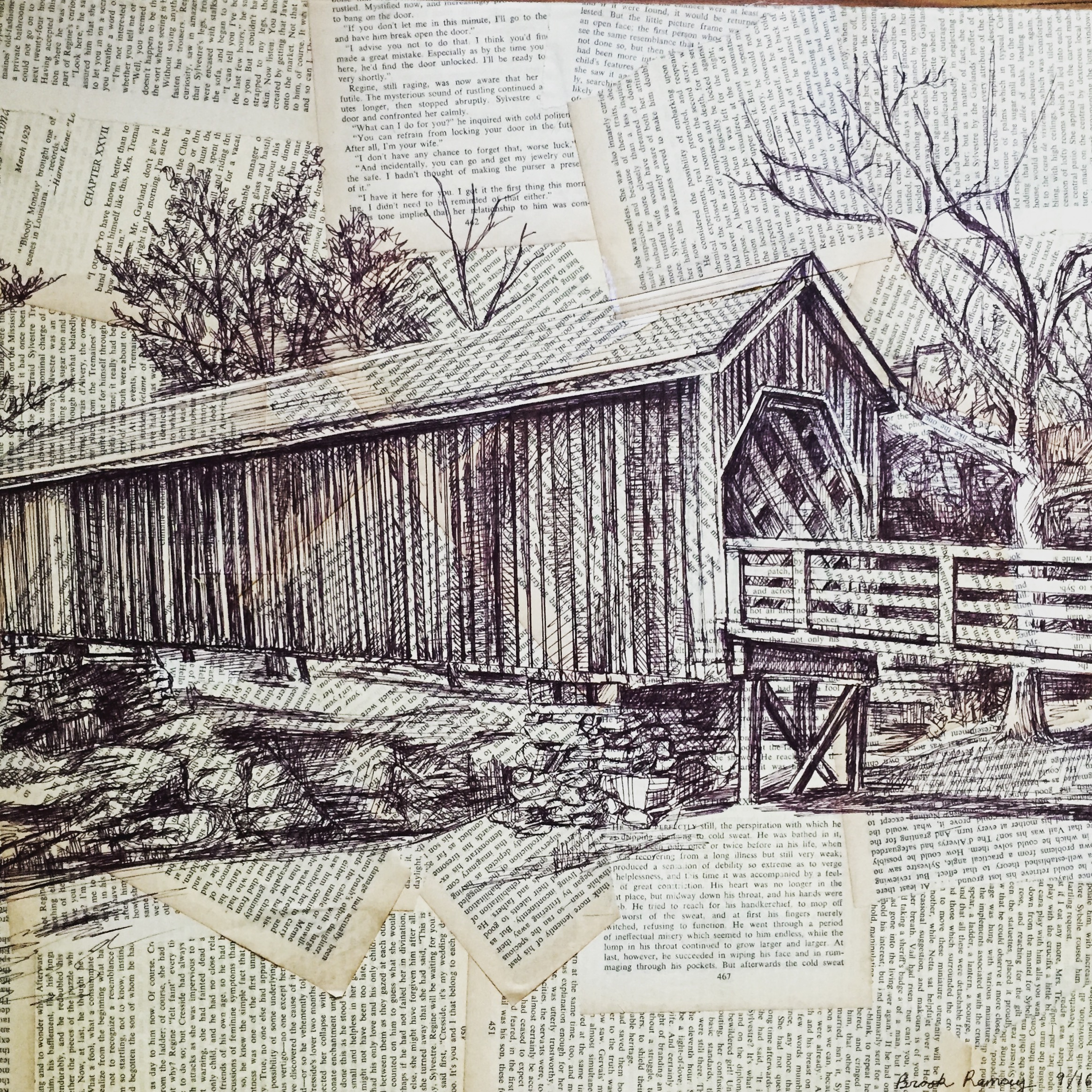 "Old wooden Bridge 18""-24"""